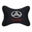 Подушка на подголовник алькантара Black BAW
