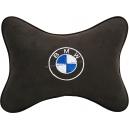 Подушка на подголовник алькантара Coffee BMW
