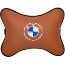 Подушка на подголовник экокожа Fox BMW