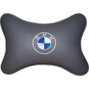 Подушка на подголовник экокожа L.Grey BMW