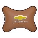 Подушка на подголовник экокожа Fox CHEVROLET
