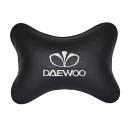 Подушка на подголовник экокожа Black DAEWOO