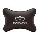 Подушка на подголовник экокожа Coffee DAEWOO