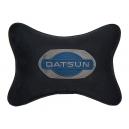 Подушка на подголовник алькантара Black DATSUN