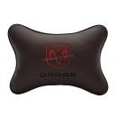 Подушка на подголовник экокожа Coffe DODGE