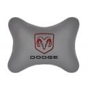 Подушка на подголовник экокожа L.Grey DODGE