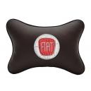 Подушка на подголовник экокожа Coffee FIAT
